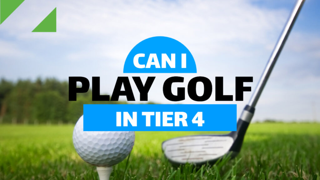 can I play golf in tier 4 Somerset